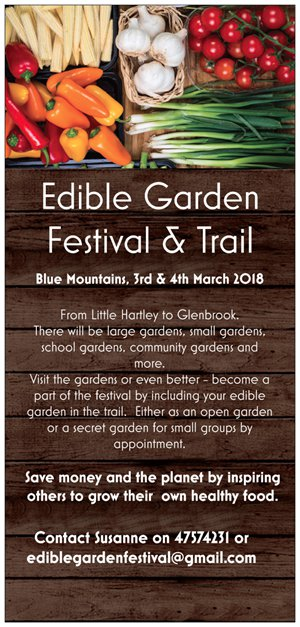 edible gardens festival flyer